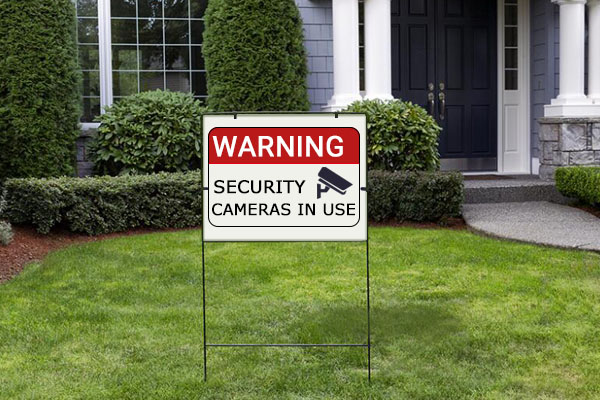 New Home Security Companies Fake Home Security Yard Signs