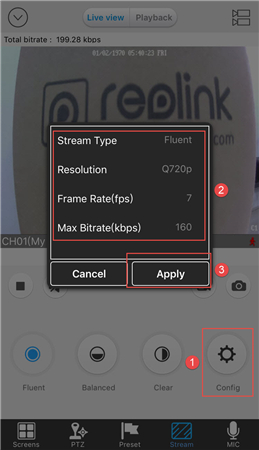 iOS Liveview Stream Config
