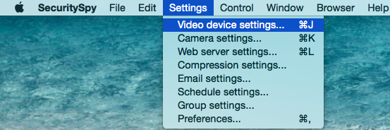 Video Device Setting